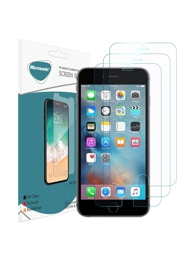 Microsonic Apple iPhone 6S Plus Ekran koruyucu Nano Cam (3'lü Paket) Renksiz